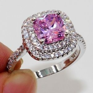 Jewelry - Pink sapphire Sterling Silver Ring (8)